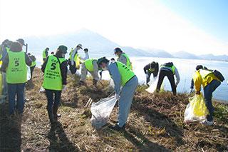 児島湖清掃活動